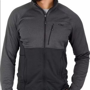 OR Outdoor Research Vigor menGrey full zip Base Layer Long Sleeve Sweater